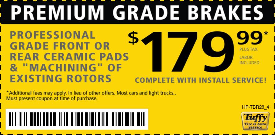 Premium Grade Brakes $179.99