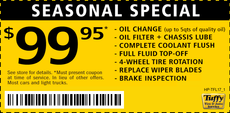 Seasonal Special $99.95 Oil/Coolant Flush/Wipers/Tire Rotate/Brake Inspection