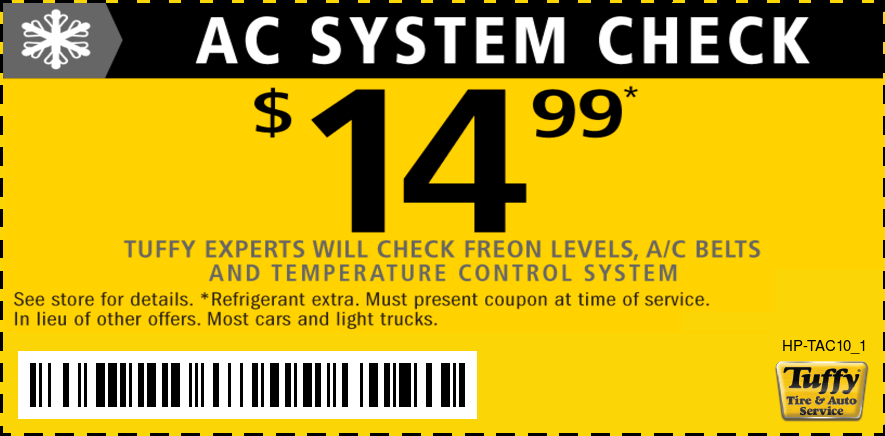A/C System Check $14.99