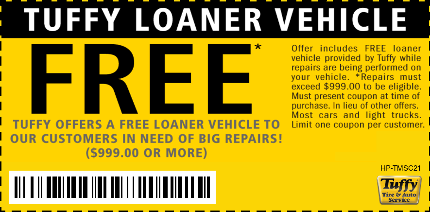 FREE Loaner Vehicle!