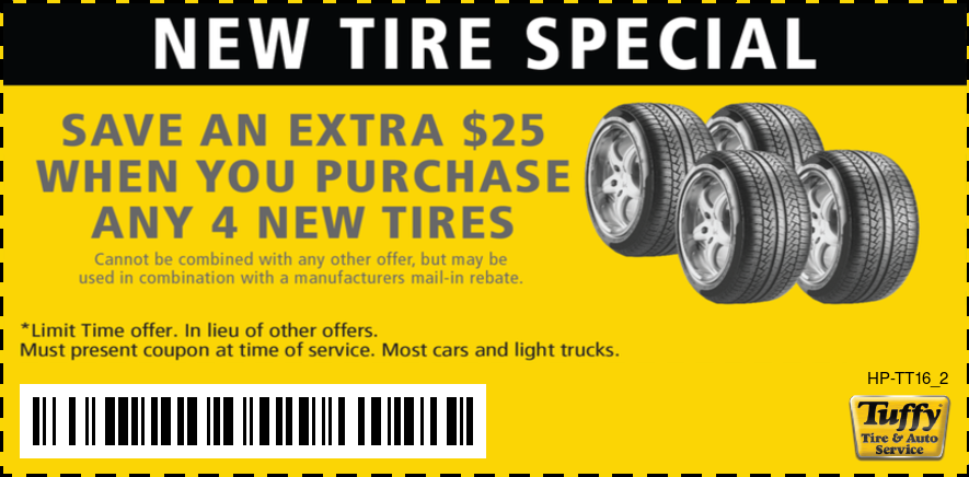 Save An Extra $25 When You Purchase Any 4 New Tires