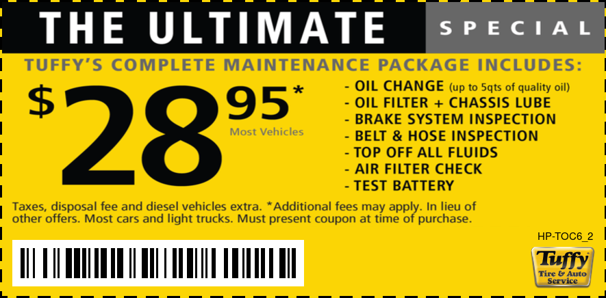 The Ultimate Oil Change $28.95