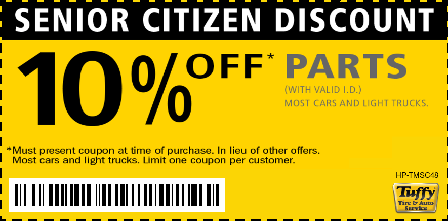 Senior Citizen Discount 10% OFF Parts