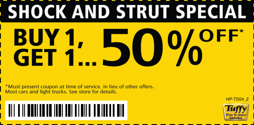 Shock and Strut Special Buy 1 Get 1 50% OFF.