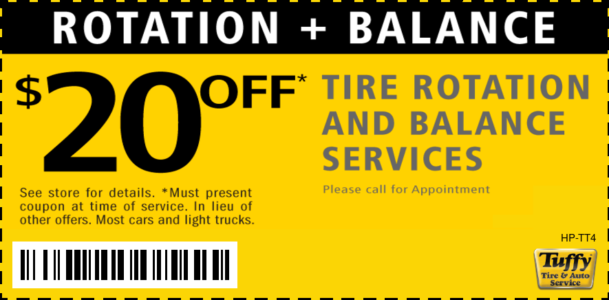 $20 Off Tire Rotation And Balance