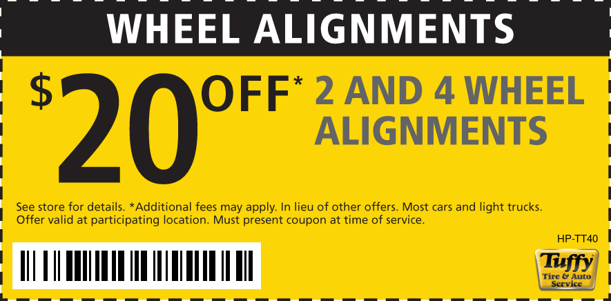 $20 Off 2 and 4 Wheel Alignment