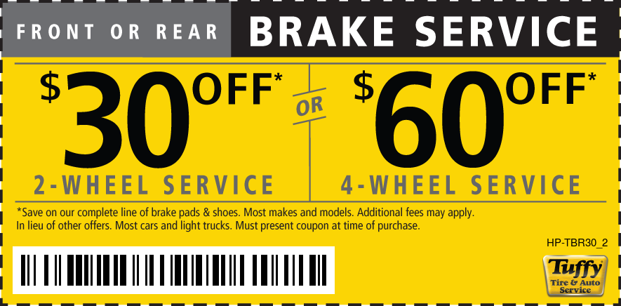 $30 off 2 or $60 off 4 wheel