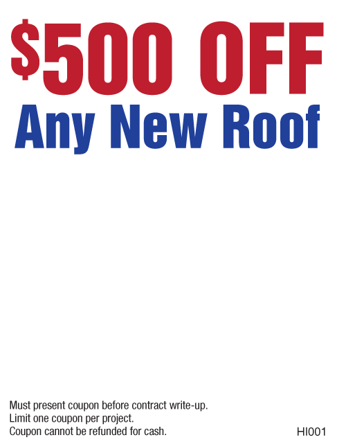 $500 Off New Roof