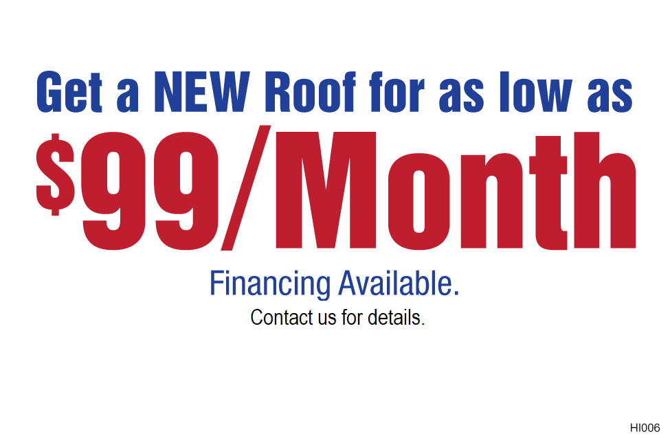 Roof Financing $99/mo
