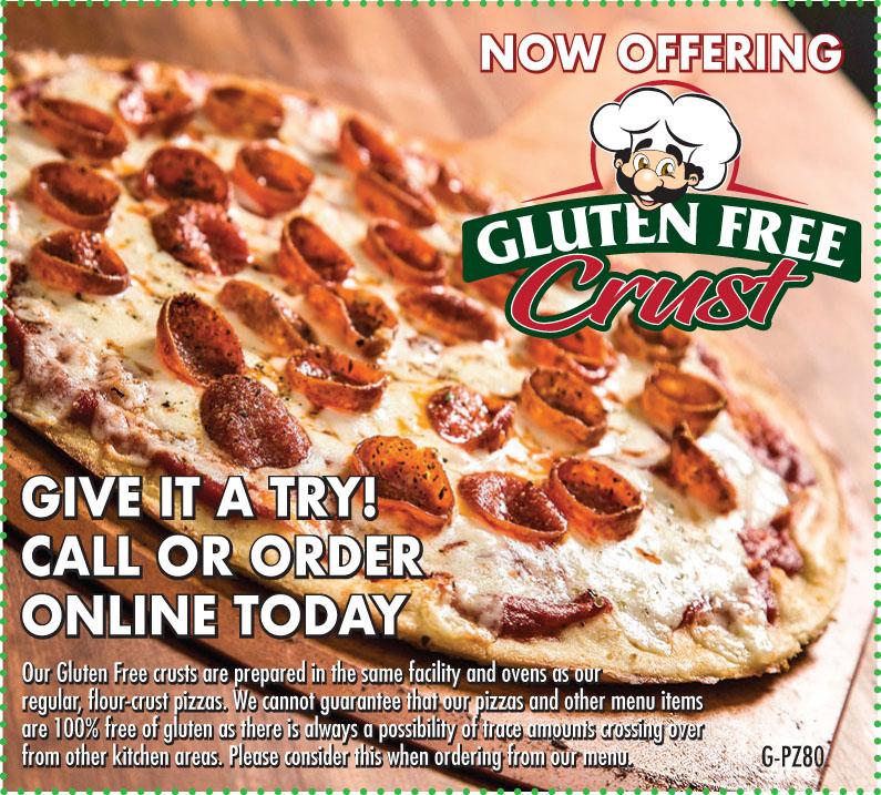 G pz80 gluten free crust
