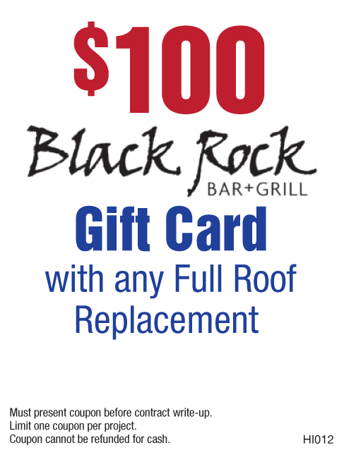 $100 Black Rock Gift Card with Roof