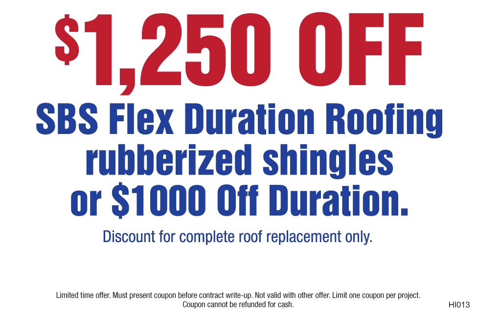 Save $1250 Flex SBS Roofing