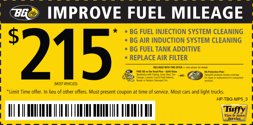 BG Fuel Injection & Fuel Induction Cleaning Package $215.00
