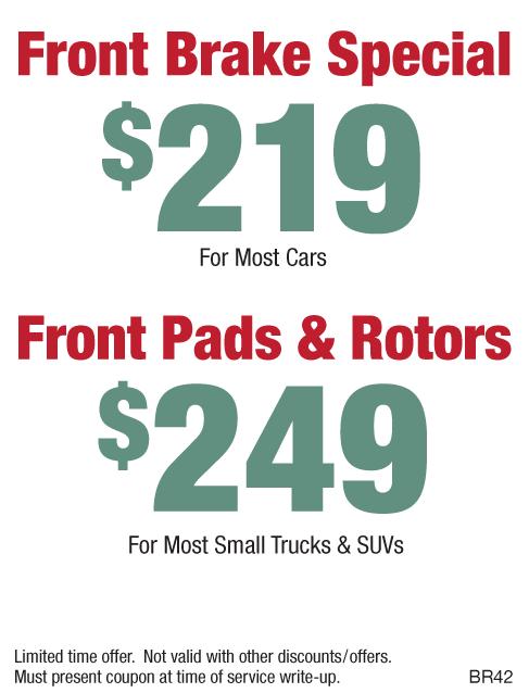 Brakes $219 or $249