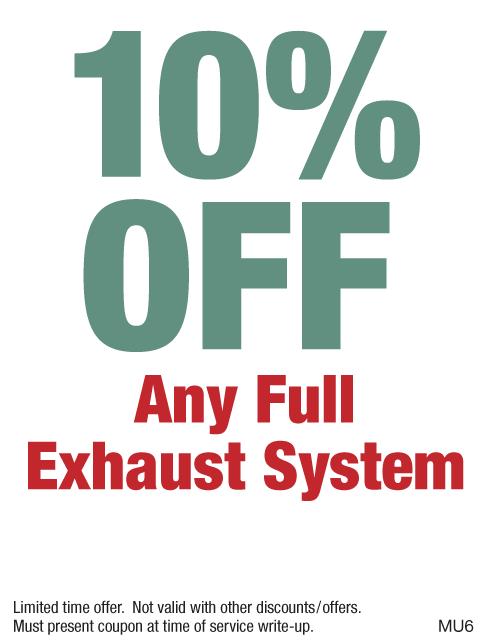 10% off exhaust