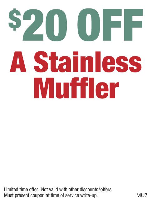 $20 Off Stainless Muffler