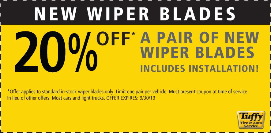 20% OFF New Wiper Blades