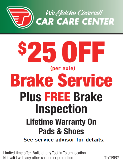 $25 OFF (per axel) Brake Service PLUS Free Inspection