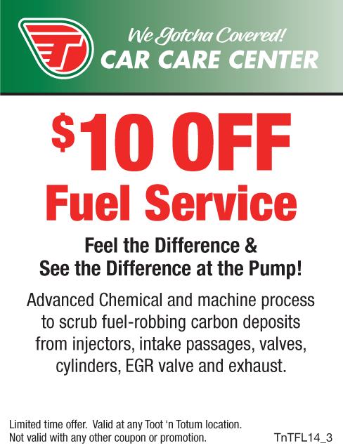 $10 OFF Fuel Service