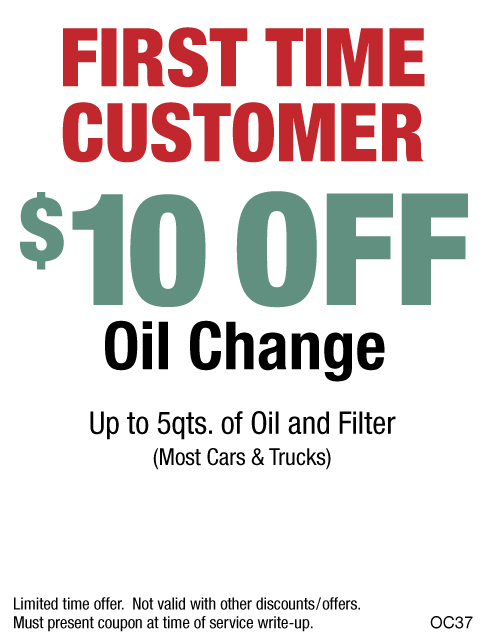 First Time Customer $10 OFF Oil Change