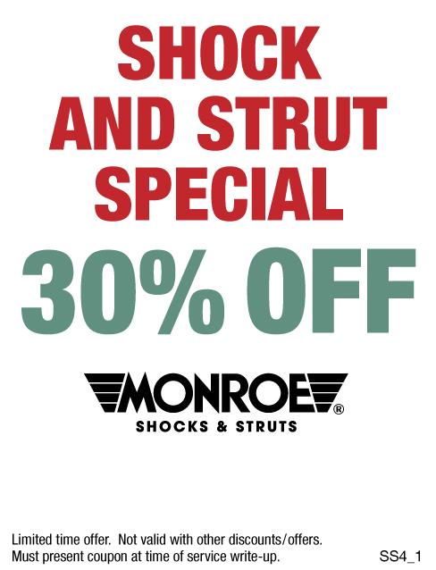30% OFF Monroe Shocks & Struts