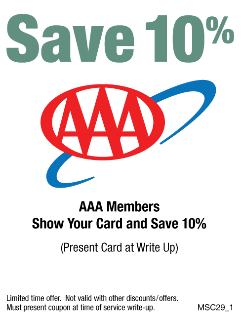 10% OFF AAA Members