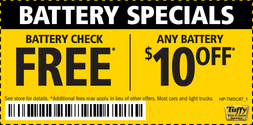 Battery Service FREE Battery Check + $10 OFF Any Battery