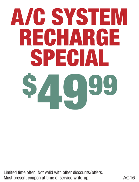 A/C Recharge $49.99