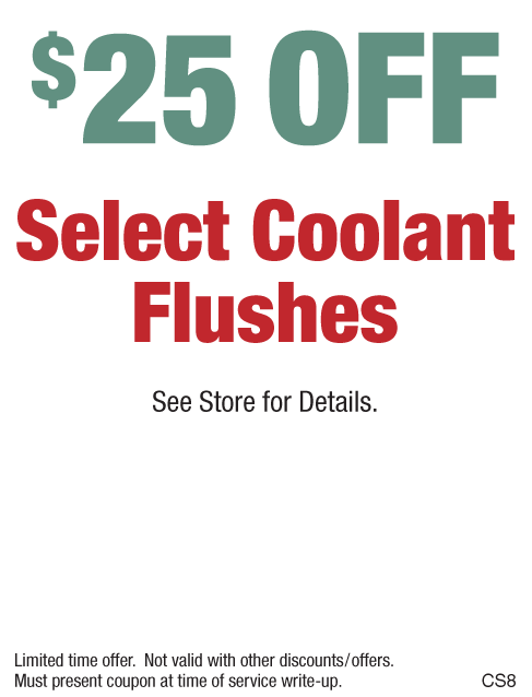 $25 Off Select Coolant Flushes