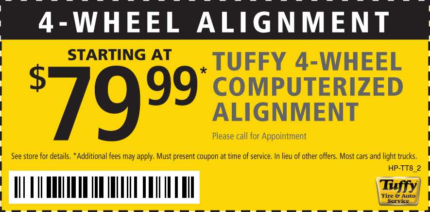 4 - Wheel Alignment Starting at $79.99