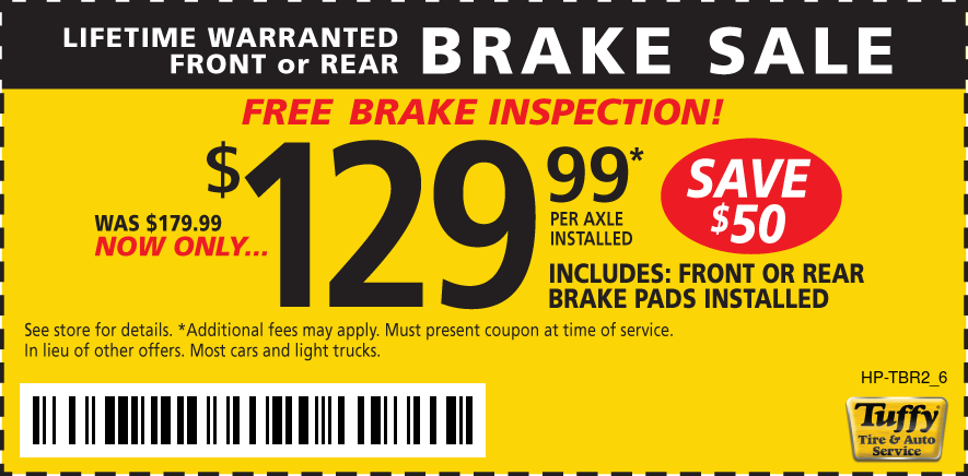Lifetime Warranted Front & Rear Brakes $129.99per Axel Installed