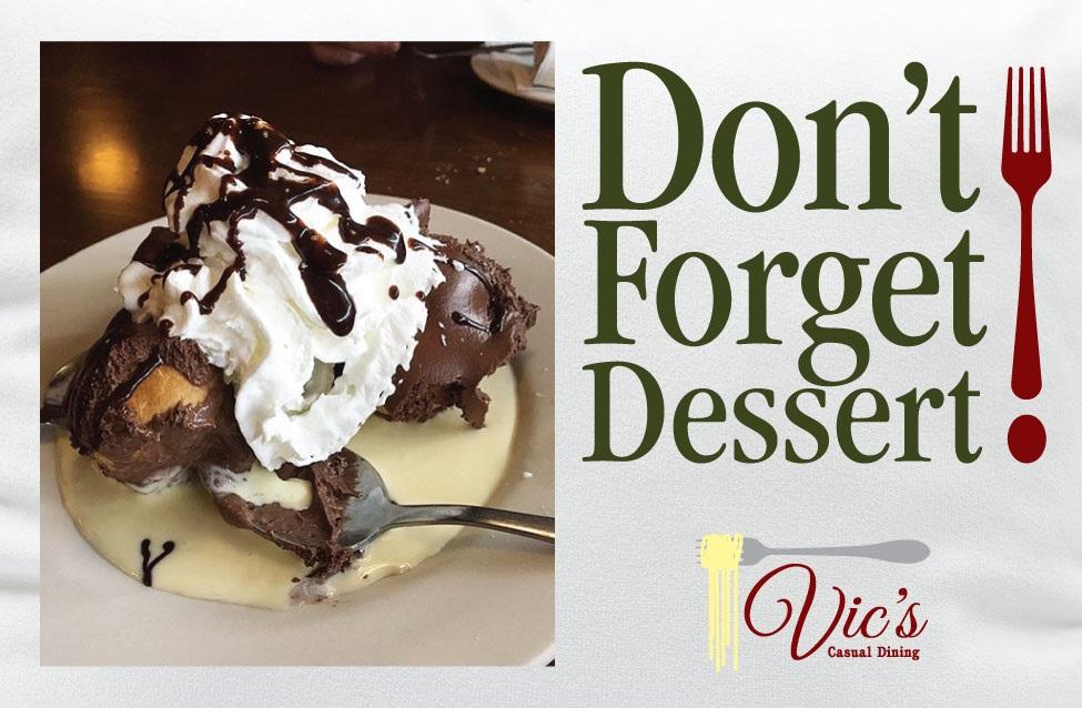 Don't Forget Dessert Profiteroles