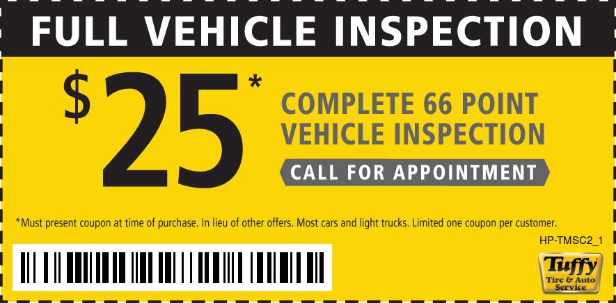 Full Vehicle Inspection $25 Call for Appt.