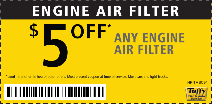$5 OFF ANY Engine Air Filter