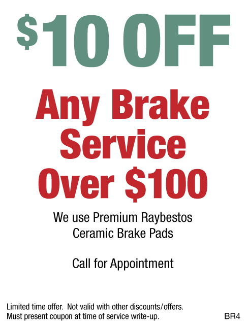 $10 OFF Any Brake Service Over $100