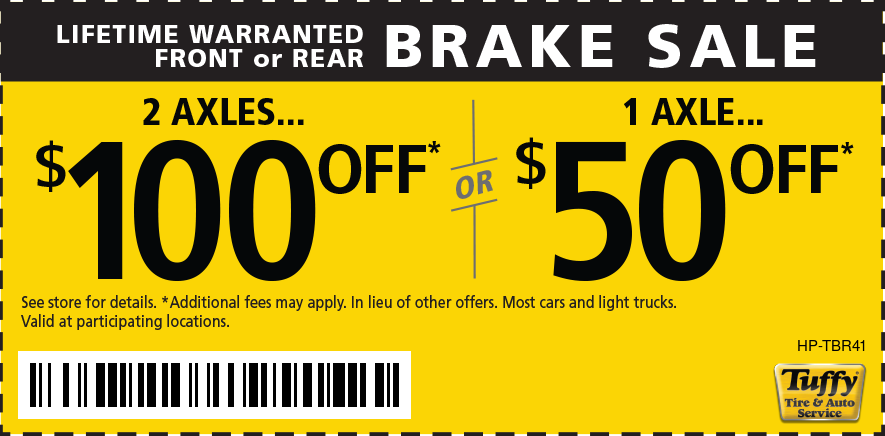 Lifetime Warranted Brake Sale  2 axles $100 OFF 1 Axle $50 OFF