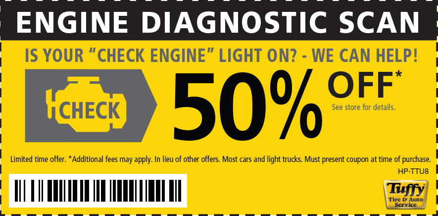 Engine Diagnostic Scan  50% OFF