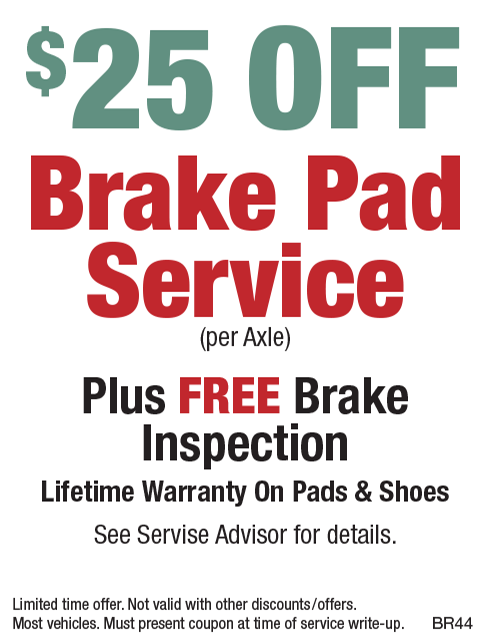 $25 Off Brake Pad Special