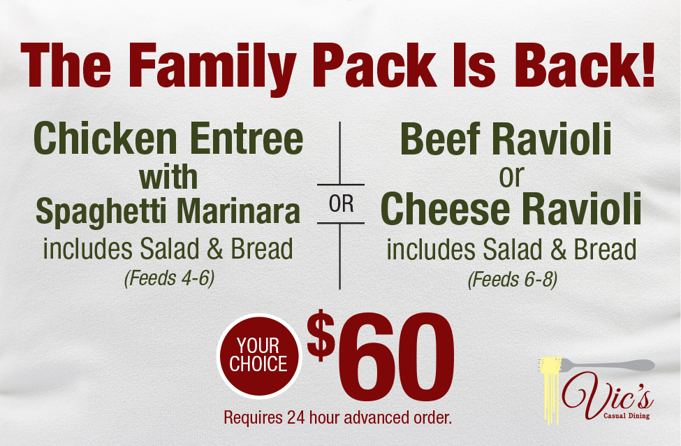 Family Pack Is Back