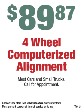 89.87 - Four Wheel Computerized Wheel Alignment