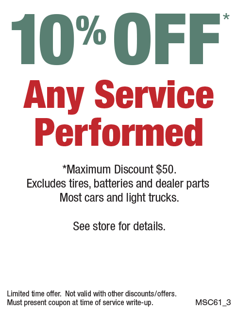 10% Off Any Service - Max Discount $50