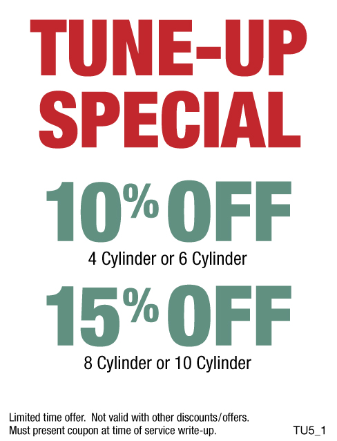 Tune-Up Special 10% OFF/15% OFF