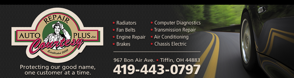 Courtesy Auto Repair Plus: Tiffin, Ohio Auto Repair