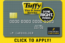 CLICK to Apply for a Tuffy Credit Card  Logo