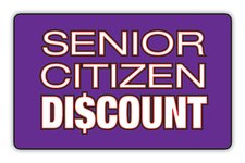 We Offer Senior Citizen Discounts Logo