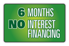 6 Months No Interest Financing Logo