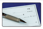 We Accept Checks Up to $1,000 logo