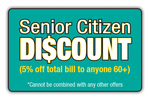 Senior Discount 5% 60+ logo