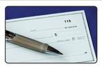 We accept local checks.  logo
