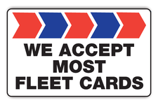 We Accept Most Fleet Cards Logo